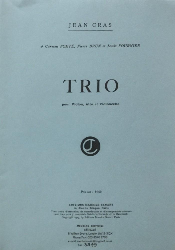 Trio A-dur, für Violine, Bratsche und Violoncello