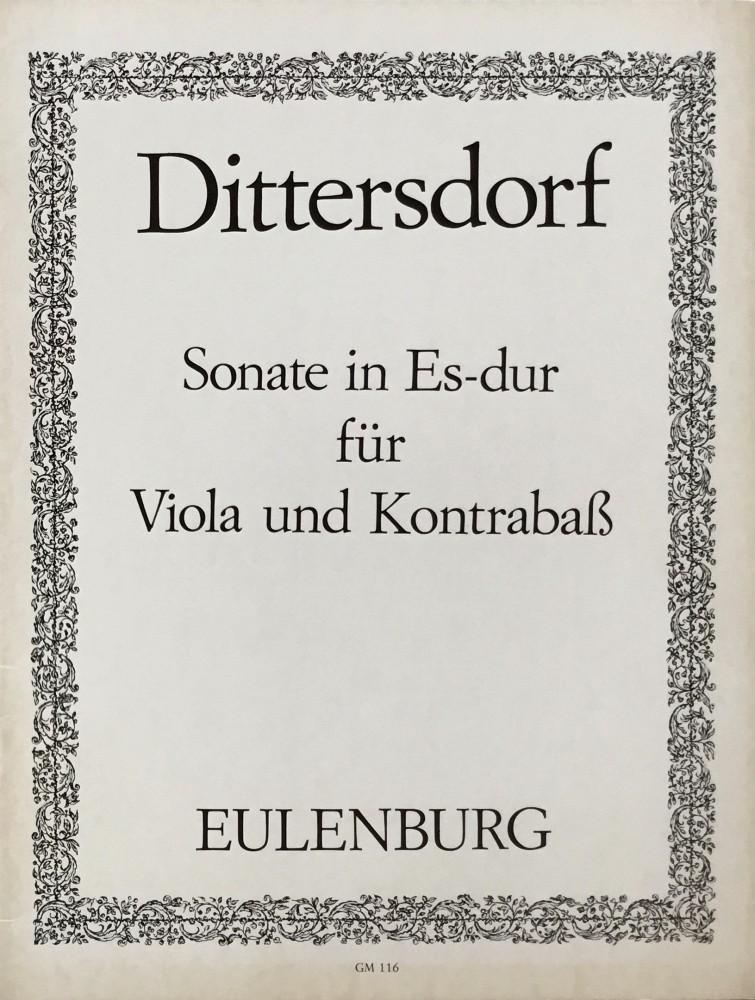 Sonate Es-dur, für Bratsche und Kontrabass