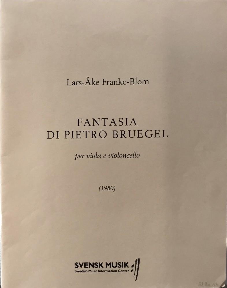 Fantasia di Pietro Brueghel, für Bratsche und Violoncello